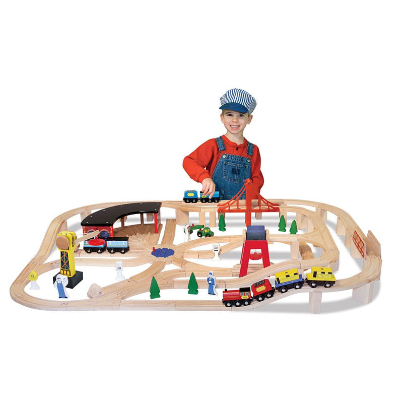 Wooden Railway Set