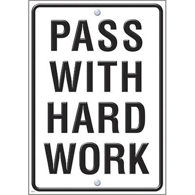 Argus® Poster: Pass With Hard Work