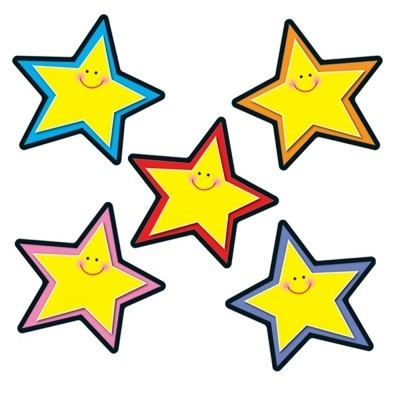Colorful Stars Cut Outs