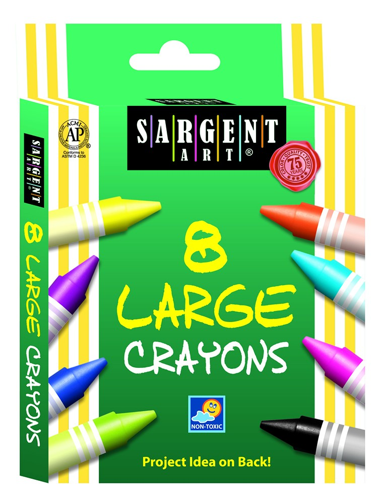 Sargent Art® Large Crayons (8 count)