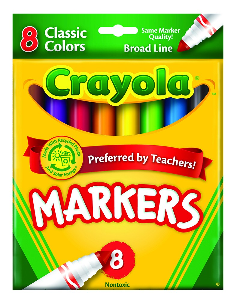 Crayola® Original Formula Conical Tip Markers (Classic) (Single Pack)