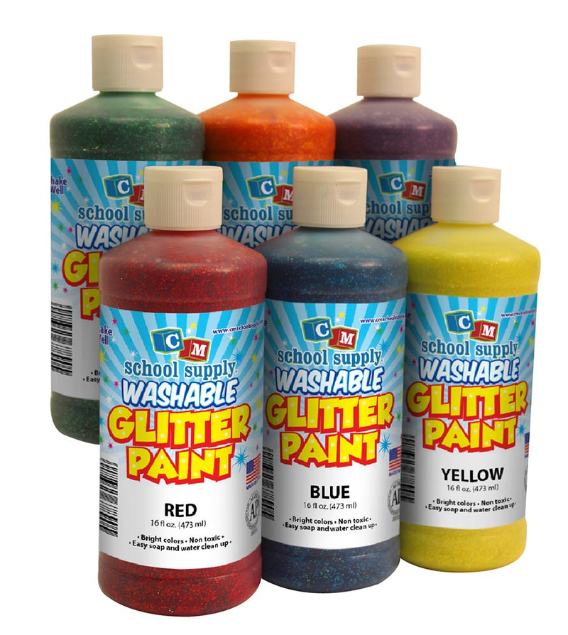 Washable Glitter Paint Pint (Blue)