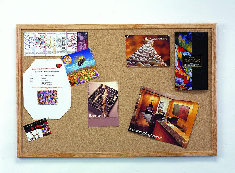Hardwood Frame Cork Board
