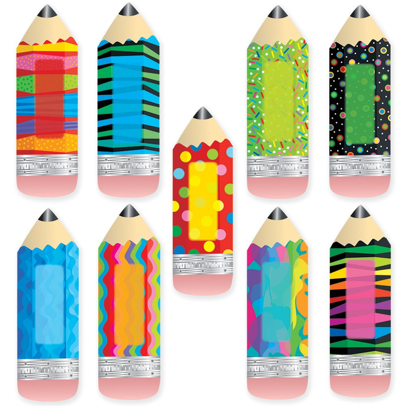"Poppin' Patterns Pencils 6"" Designer Cut-Outs"