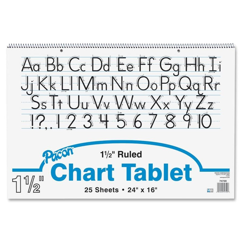 "Ruled Chart Tablet - 24"" x 16"""