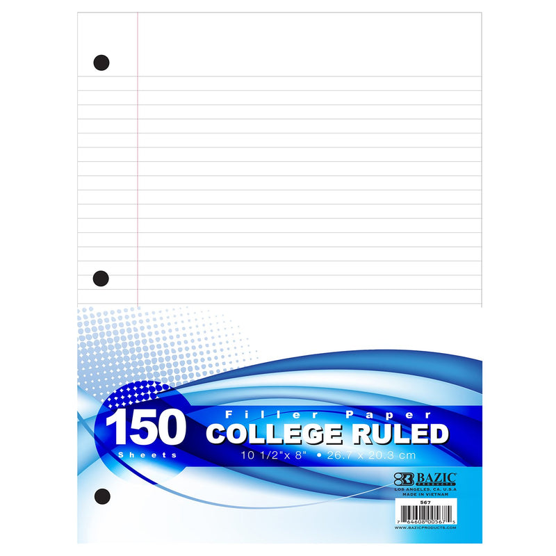 College Ruled Filler Paper