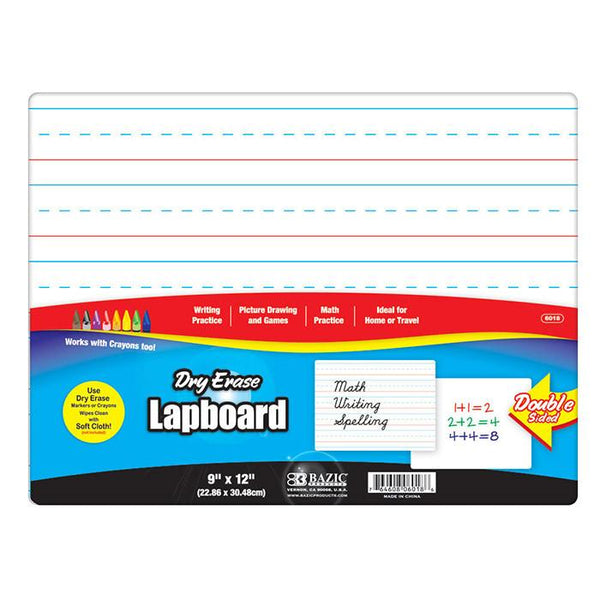 "9"" X 12"" Double Sided Dry Erase Lap Board"