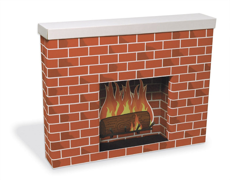 Corobuff Cardboard Fireplace Decoration