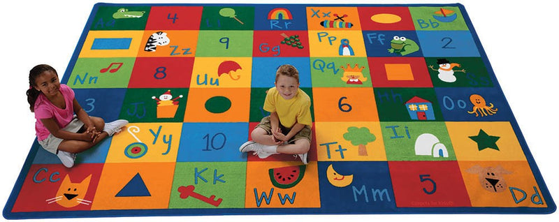 "Learning Blocks Primary Colors Rug  (4'5"" x 5'10"" Rectangle)"