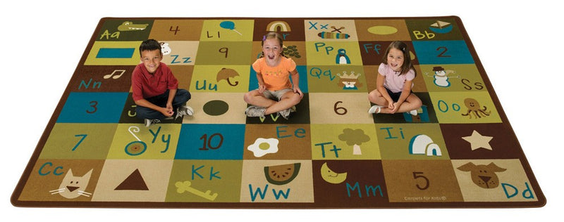 "Nature's Colors Learning Blocks Rug (4'5"" x 5'10"" Rectangle)"