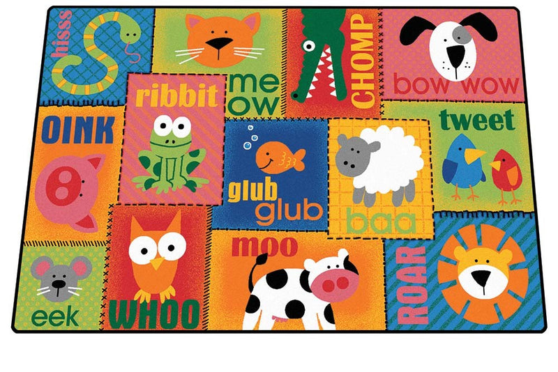Animal Sounds Toddler Rug (4' x 6' Rectangle)