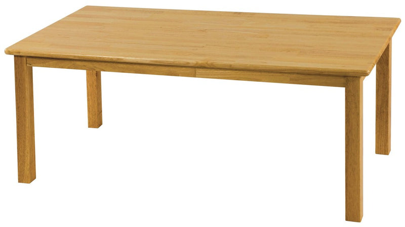 "Hardwood Table (Rectangle),  24"" x 48"", (18"" Legs)"