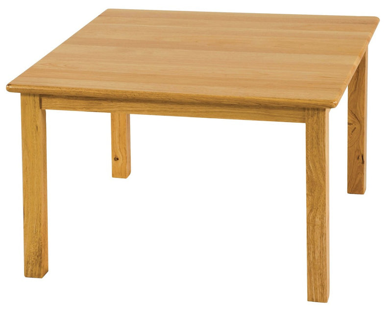 "Hardwood Table (Square) 24"" x 24"", (18"" Legs)"