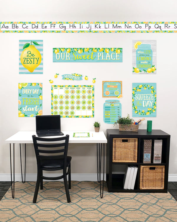 Lemon Zest Classroom At Home Décor Kit