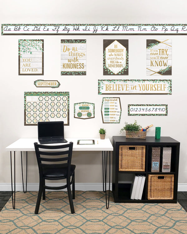 Eucalyptus Classroom At Home Décor Kit