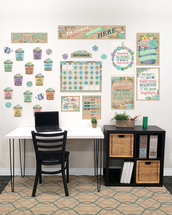 Rustic Bloom Classroom At Home Décor Kit