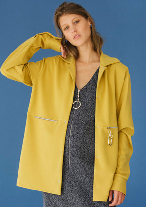 MUSTARD COTTON JACKET