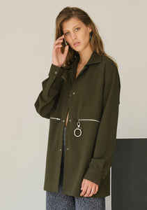 MILITARY GREEN COTTON JACKET