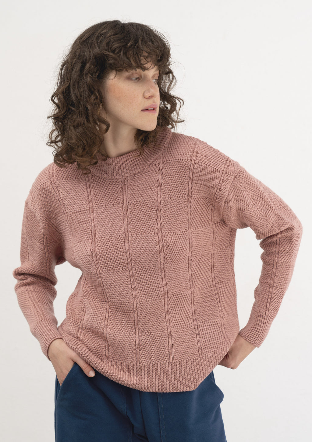 ROSE MERINO WOOL JERSEY