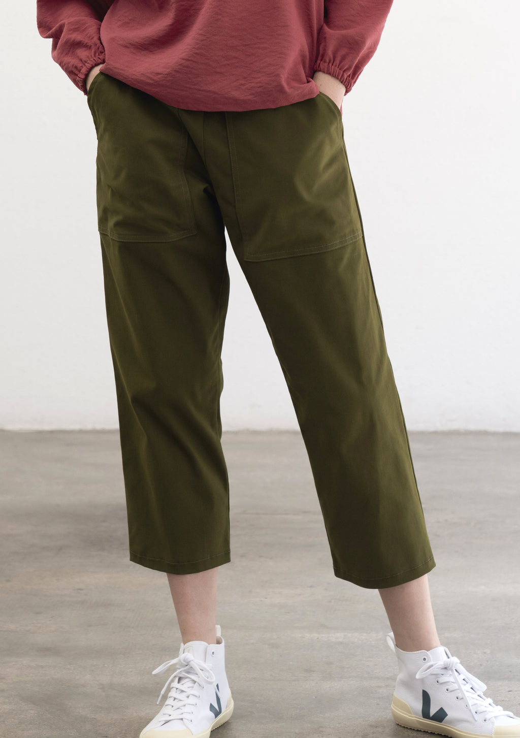 GREEN LIGHTWEGHT COTTON TROUSERS