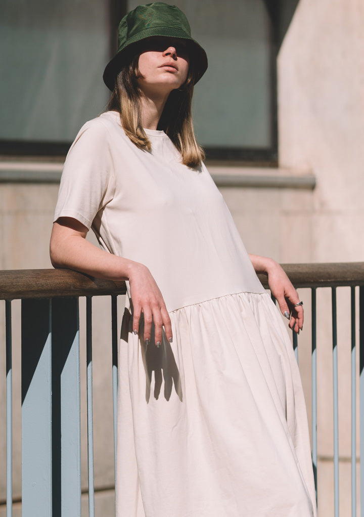 BEIGE ORGANIC COTTON DRESS