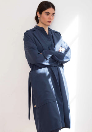 BLUE TRENCH COAT