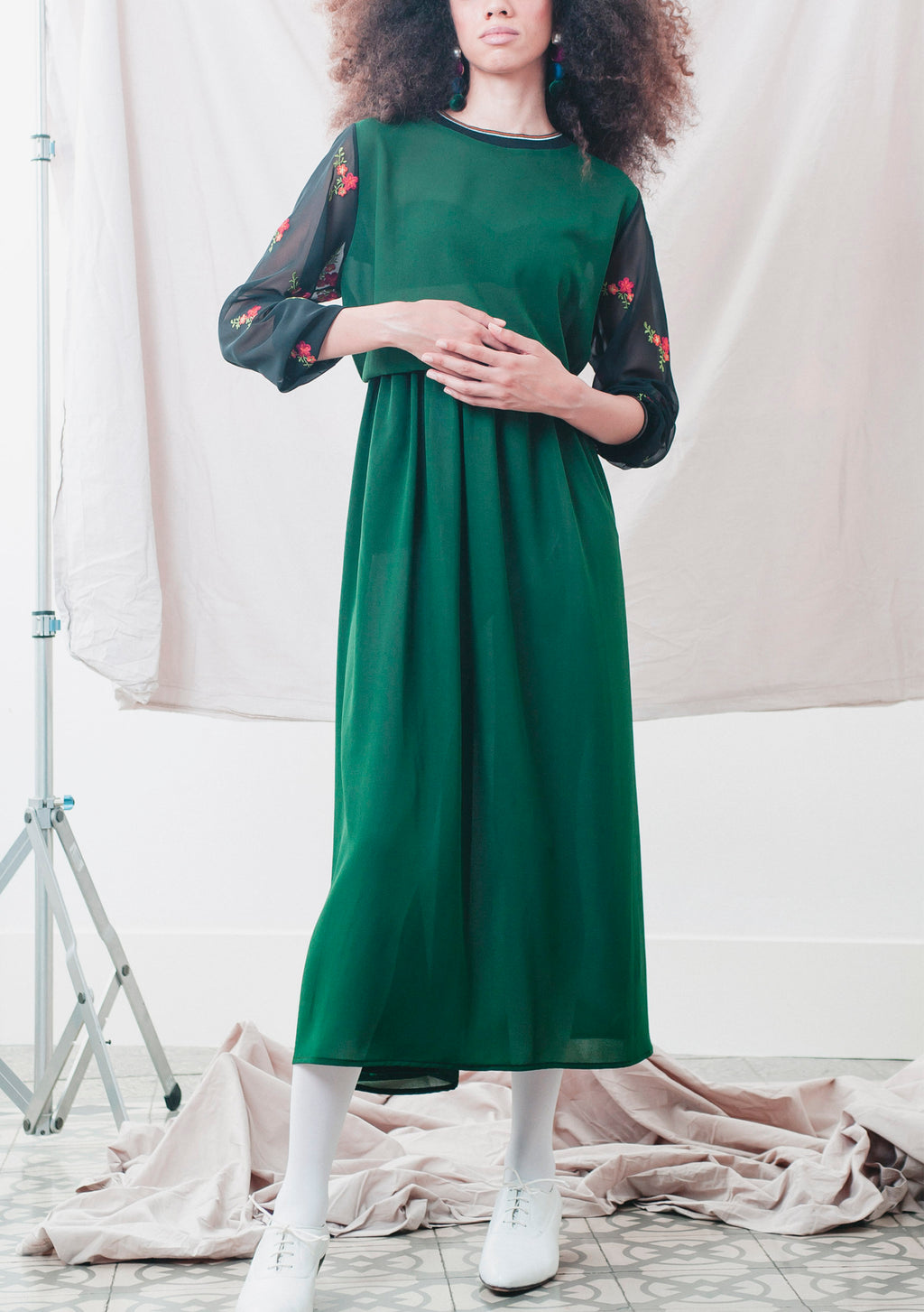 GREEN MEDLEY DRESS
