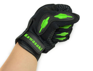 Kawasaki Finger Motorcycle Gloves Motocross