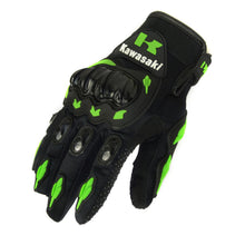 Load image into Gallery viewer, Kawasaki Finger Motorcycle Gloves Motocross