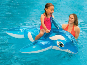 Whale Pool Water Float Toys Ride on for Kids Swimming