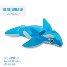 Load image into Gallery viewer, Whale Pool Water Float Toys Ride on for Kids Swimming
