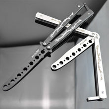 Load image into Gallery viewer, Butterfly Knife stainless steel gift Flail Folded Knife Toys