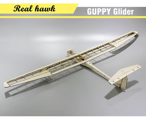 Plane Laser Cut Balsa Wood Airplane Kit  Wingspan 1040mm GUPPY Glider Frame