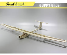 Load image into Gallery viewer, Plane Laser Cut Balsa Wood Airplane Kit  Wingspan 1040mm GUPPY Glider Frame