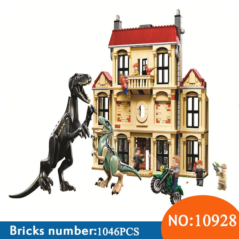 1046pcs Jurassic World Dinosaur Indoraptor Rampage At Lockwood