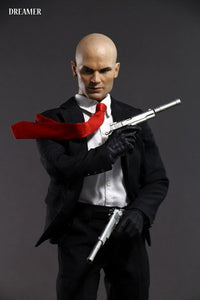 Male Action Figure full set with the head suit and gun model and the body
