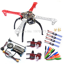 Load image into Gallery viewer, F450 450 Quadcopter MultiCopter Frame kit APM 2.8 w/ Shock Absorber 7M GPS Power Module 2212 Motor 30A Simonk ESC