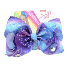 "Load image into Gallery viewer, 1 piece 8""  Unicorn Star Heart Dots Print Hair Bows"