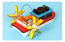 Load image into Gallery viewer, Kids DIY Electric Motor Boat Wooden Science Model Kit Primary