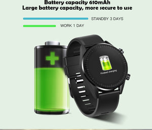 4G Smart Watch Men Android 7.1.1 Quad Core GPS 5MP Camera