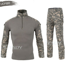 Load image into Gallery viewer, 2 Pcs Men's Tactical Shirt Sport Set Hiking Pants Camouflage