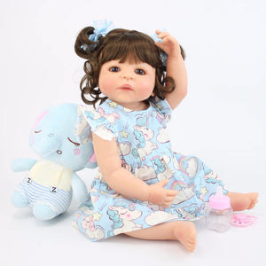Reborn Baby Doll Toy  Bonecas Newborn Princess Babies Bebe Bathe Toy