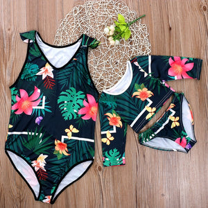 Family Matching Swimwear Swimsuit