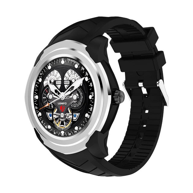 Watch Men For Android Phone 3G WIFI SIM Card GPS Bluetooth Heart Rate