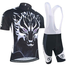 Load image into Gallery viewer, Clothing Breathable Gel Pad Zipper Bicycle Clothing Summer Set