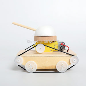 DIY Wooden Handmade Electric Tank Model Kits science