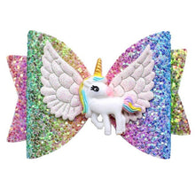 Load image into Gallery viewer, Unicorn Wing Hairr Bows