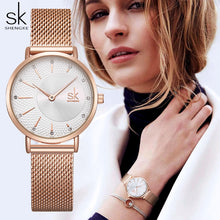 Load image into Gallery viewer, Luxury Crystal Watch Women