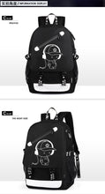 Load image into Gallery viewer, Student School Backpack Anime Luminous