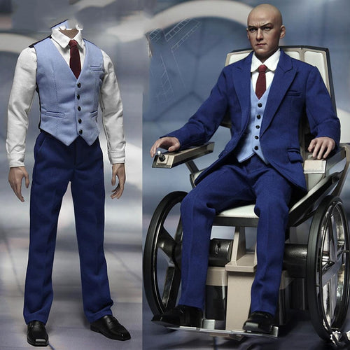 1/6 action figure clothing set Professor Blue Gentleman Mens Suit Set F 12